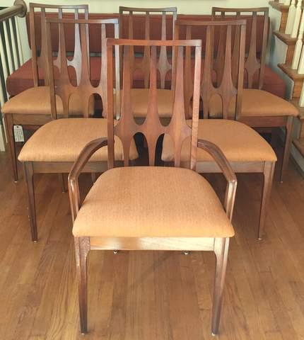 Walnut Broyhill Brasilia Dining Chairs