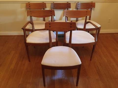 drexel danish modern dining room set. drexel declaration dining chairs by kipp stewart and stuart macdougall danish modern room set s