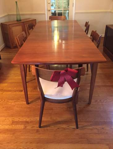 Mid Century Modern Drexel Declaration Dining Table And Six Chairs