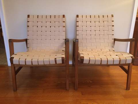 Jens Risom For Knoll Cotton Strap Lounge Chair Epoch