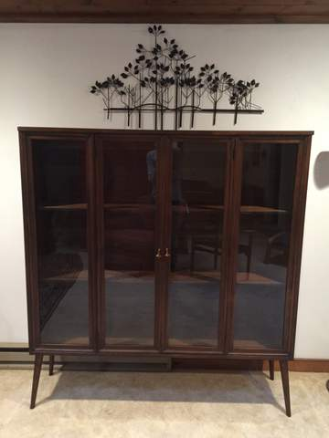 mid century broyhill brasilia display cabinet