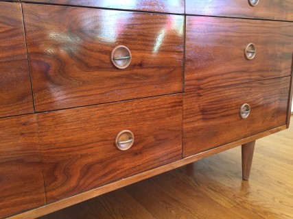 Vintage Mid Century Modern Triple Dresser Stanley