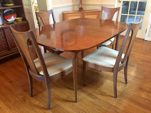 Mid Century Modern Broyhill Emphasis Dining Table U0026 Chairs