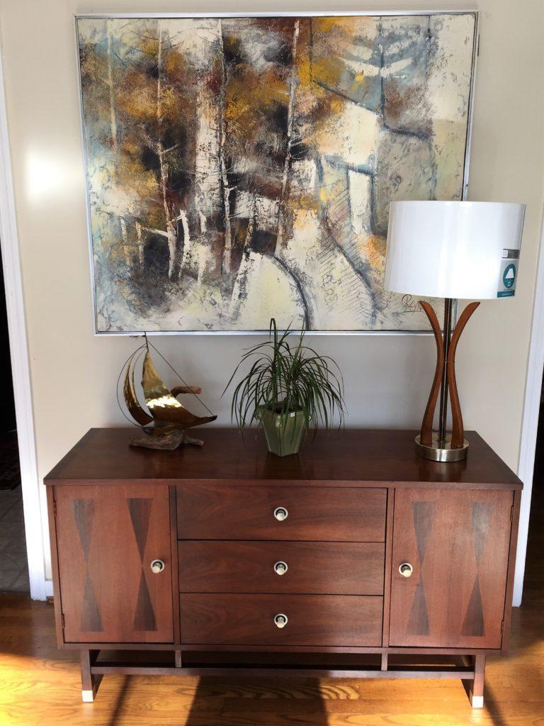 Mid Century Modern Walnut & Rosewood Credenza By Stanley