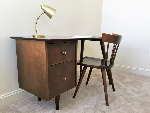 Mid Century Paul Mccobb Desk And Chair From The Planner Group Series