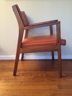 Walnut Armchairs Mid Century Modern Armchairs