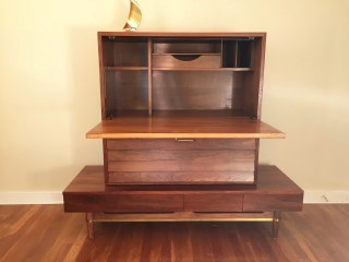 Mid Century Modern Secretary Dania Collection By American