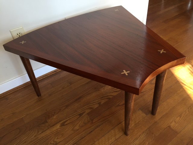mid century modern american of martinsville wedge table