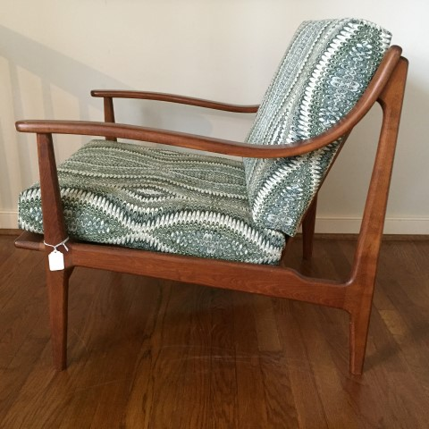 mid century modern armchair sloping bent arms
