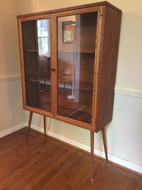 mid century modern display cabinet