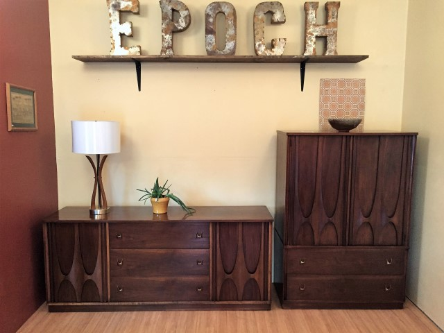 mid century modern Broyhill Brasilia Triple Dresser