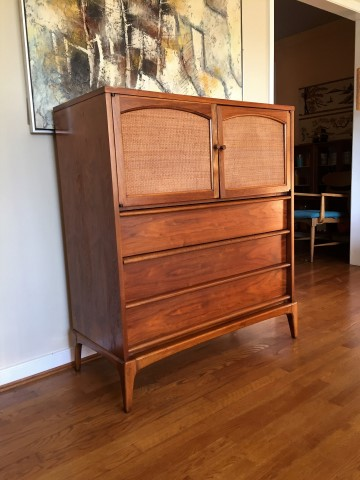 Mid Century Modern Highboy Dresser From The Lane Rhythm Collection