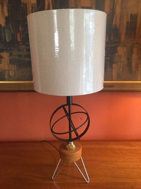 Mid Century Modern Atomic Age Gyroscope Table Lamp