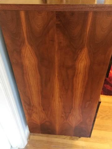 Harmony House Mid Century Modern Highboy Dresser Elliptical Rosewood Pulls