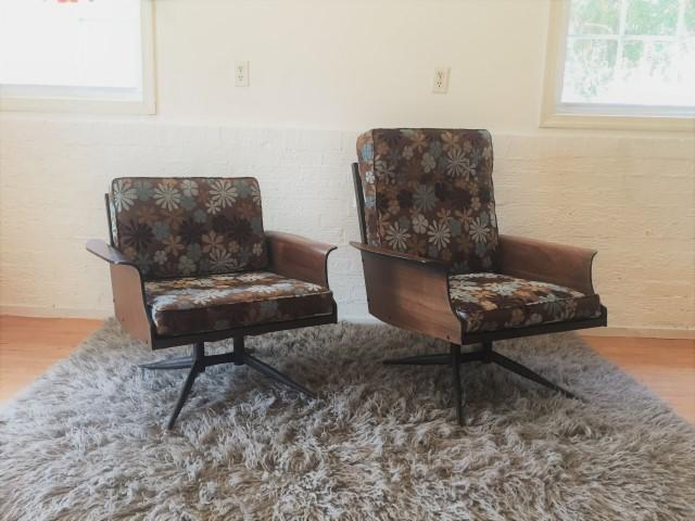 mid century modern viko Baumritter lounge chairs