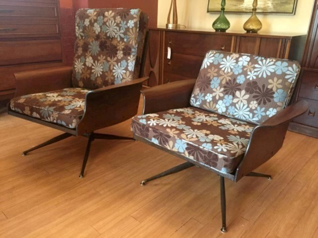 mid century modern viko baumritter molde plywood lounge chairs