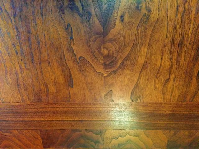 mid century modern walnut end tables shelf Lane Furniture 1966