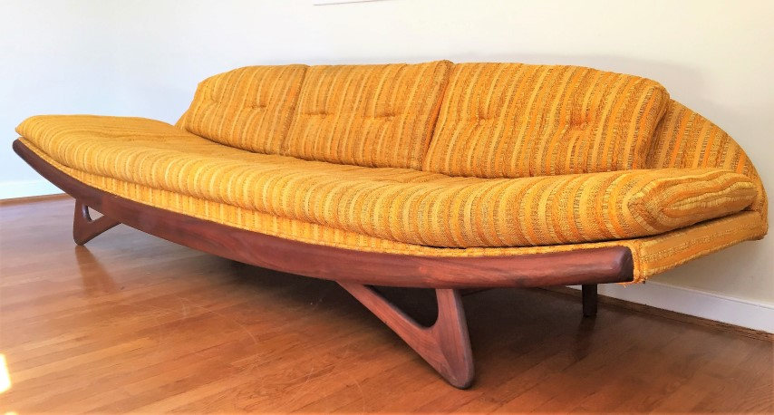 mid century moderrn gondola sofa by adrian pearsall for craft associates