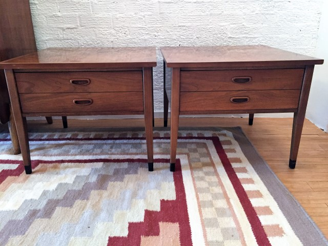 Pair of American of Martinsville Nightstands End Tables