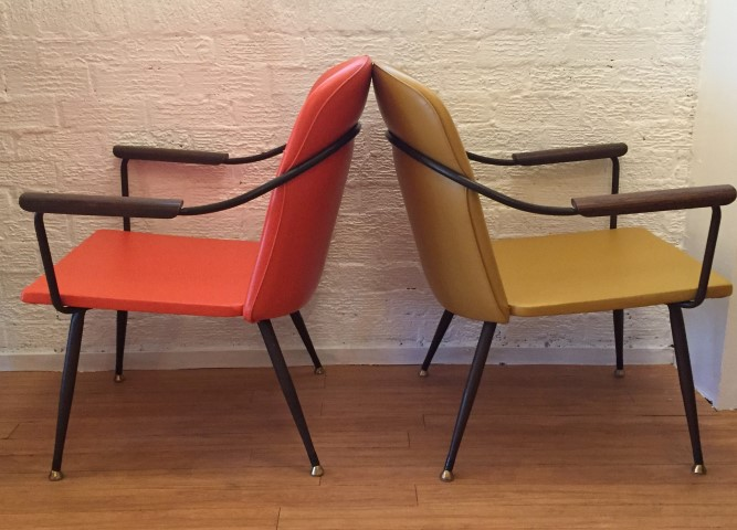 mid century modern arm chairs by Viko Baumritter
