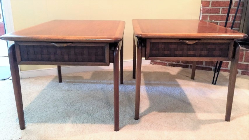 Mid Century Modern Lane Perception End Tables
