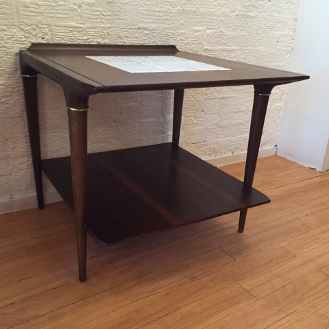 Mid Century Accent Table Ceramic Tile By Lane C 1962 Epoch