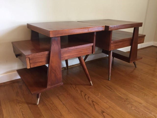 mid century modern end tables american of martinsville