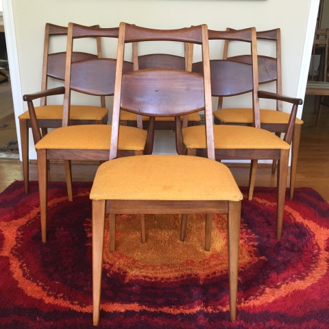 Set Of Six Mid Century Modern Heywood Wakefield Dining