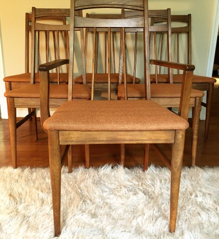 Mid Century Modern Danish Style Chairs Newly Upholstered