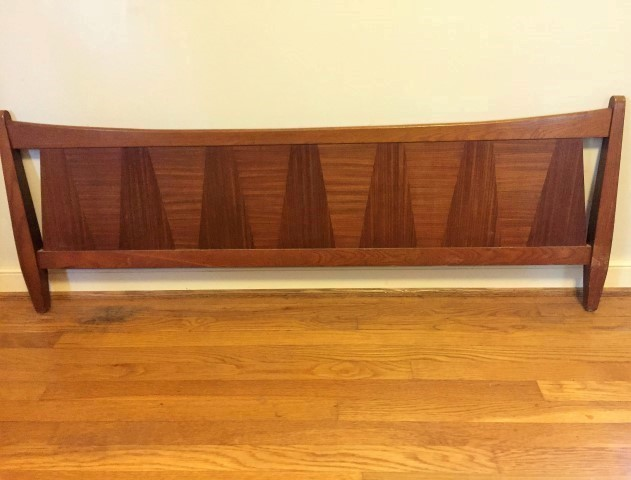 mid century modern stanley tivoli full headboard and footboard