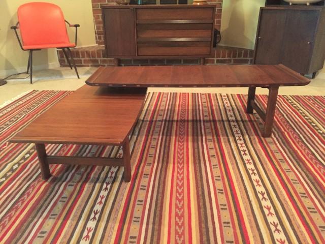 mid century modern articulating coffee table lane