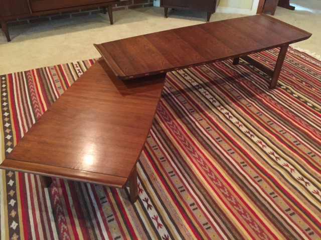 mid century modern articulating coffee table lane