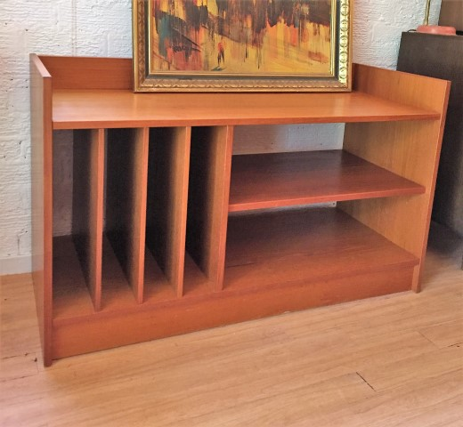 Danish modern teak record cabinet epoch for Modern teak kitchen cabinets