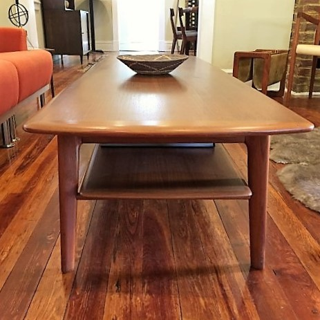 Danish modern teak coffee table Svend Madsen