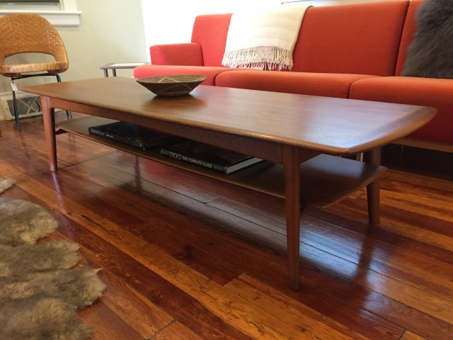 Danish Modern teak coffee table by Svend A. Larsen