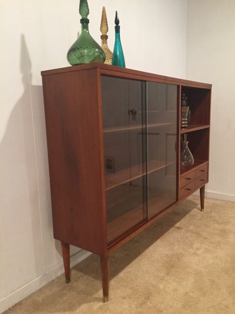mid century modern display cabinet by Lane