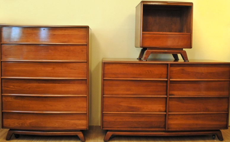Solid Cherry Bedroom Dresser Four Piece Gibbard Solid