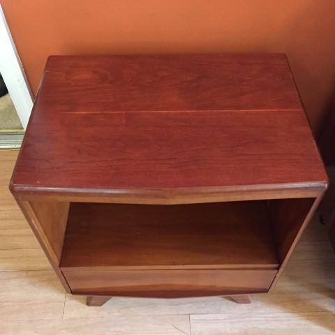 mid century modern solid cherry nightstand kling