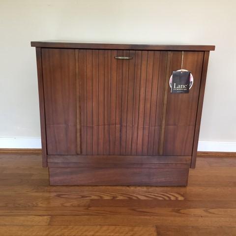 Mid Century Walnut Record Cabinet By Lane Epoch