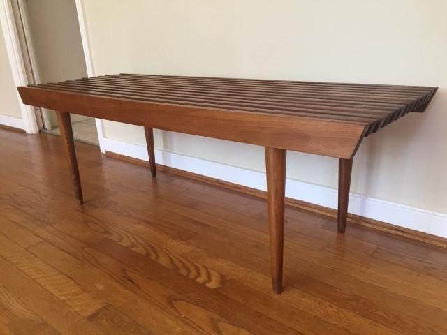 Mid Century Modern Wood Slat Coffee Table Yugoslavia ...