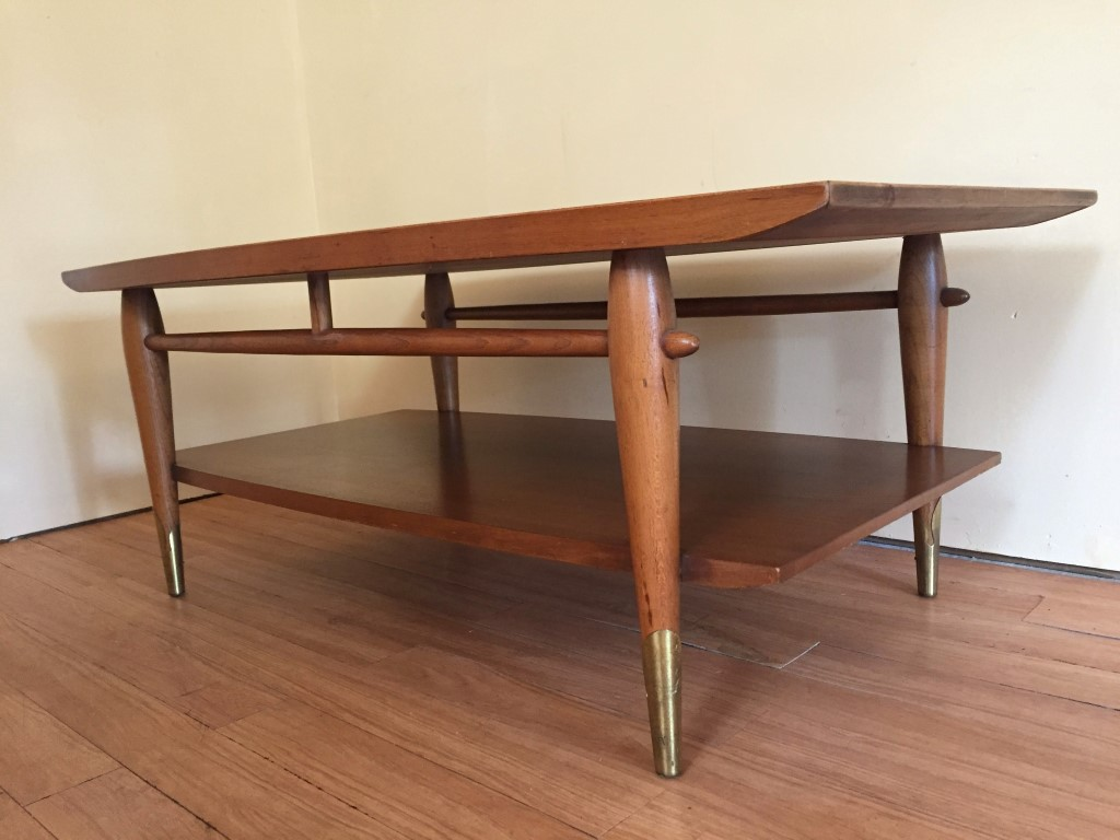 Mid Century Walnut Coffee Table Copenhagen Collection By Lane, C. 1955