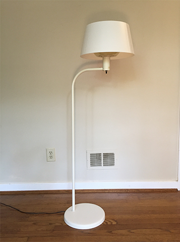 mid century modern lightolier floor lamp by Gerald Thurston