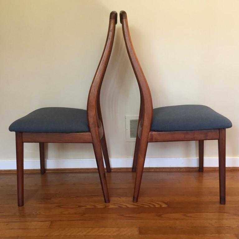 Danish Modern Teak Dining Chairs By Benny Linden Epoch
