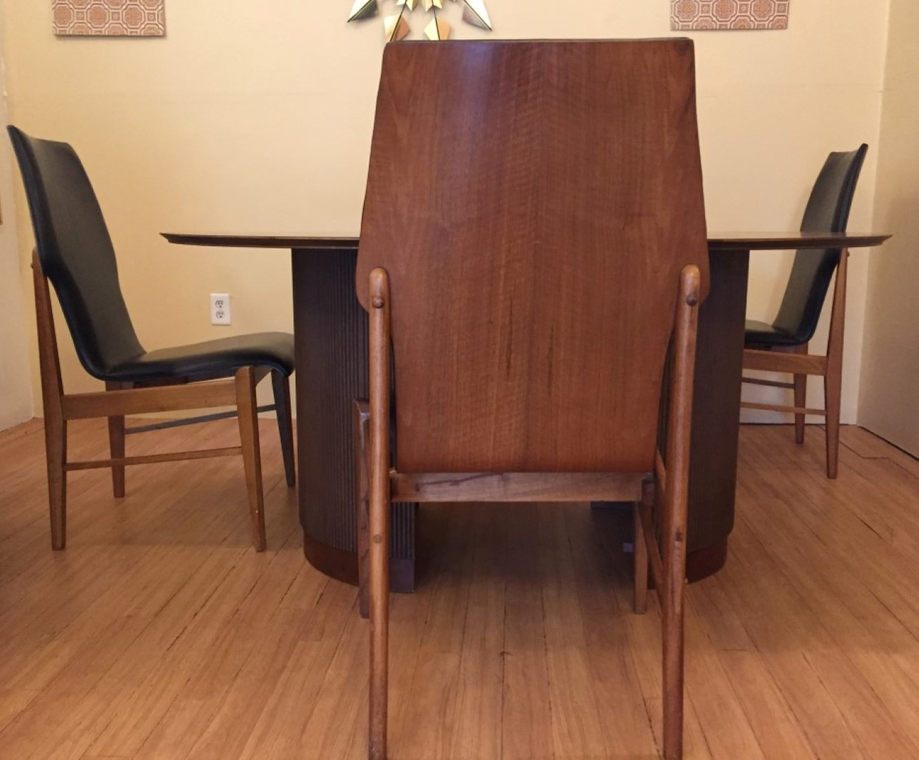 Mid Century Circular Walnut Dining Set First Edition Andre