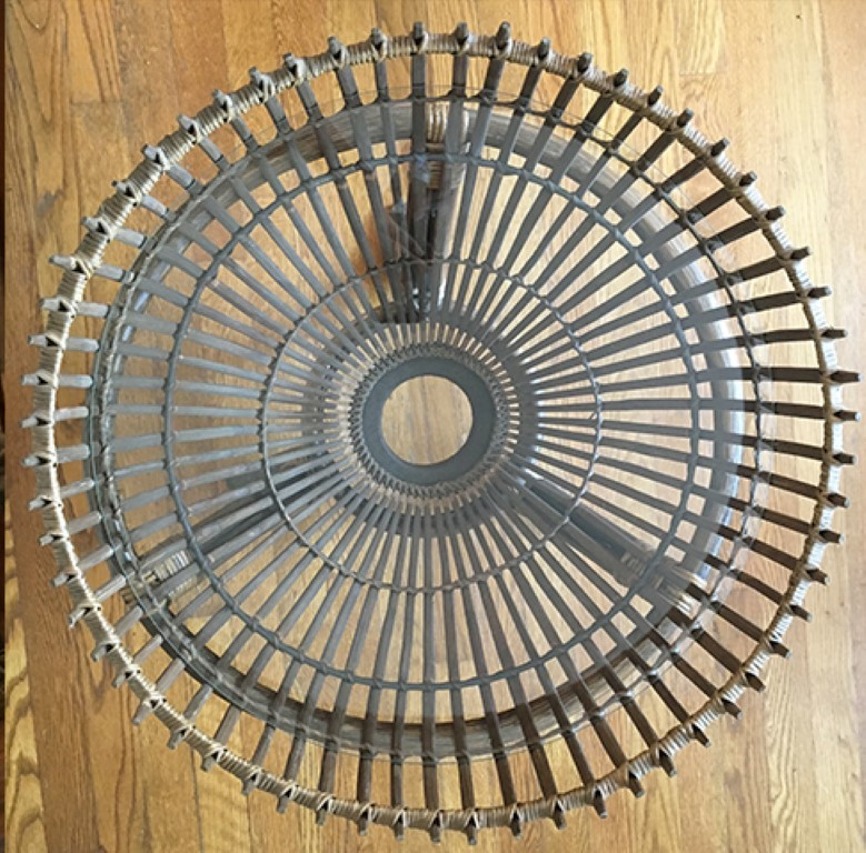 vintage bamboo wicker side tables plant stands