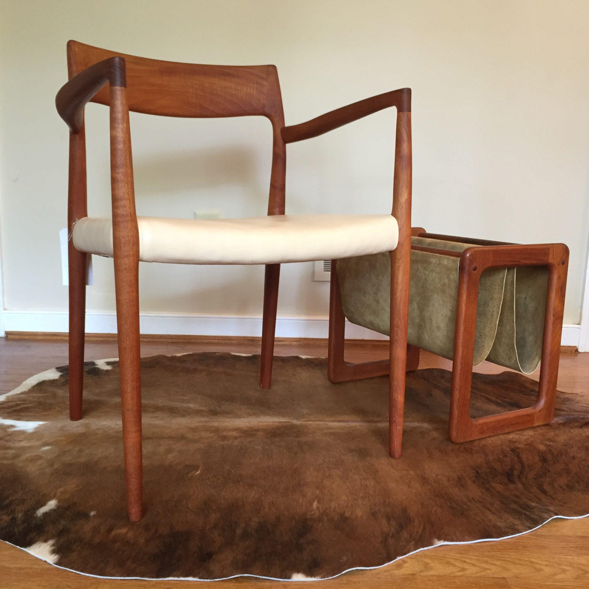 vintage cowhide rug