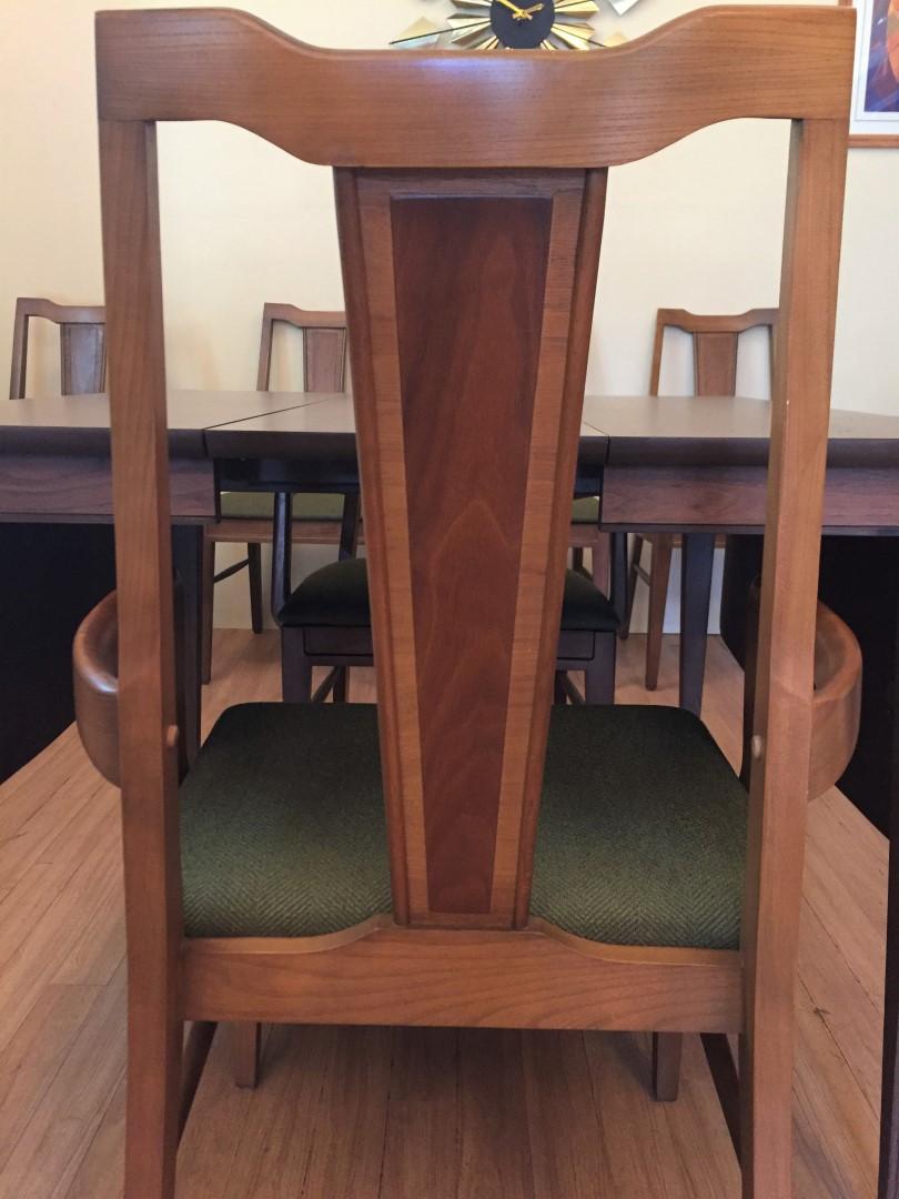 mid century modern walnut dining chairs Basic Witz