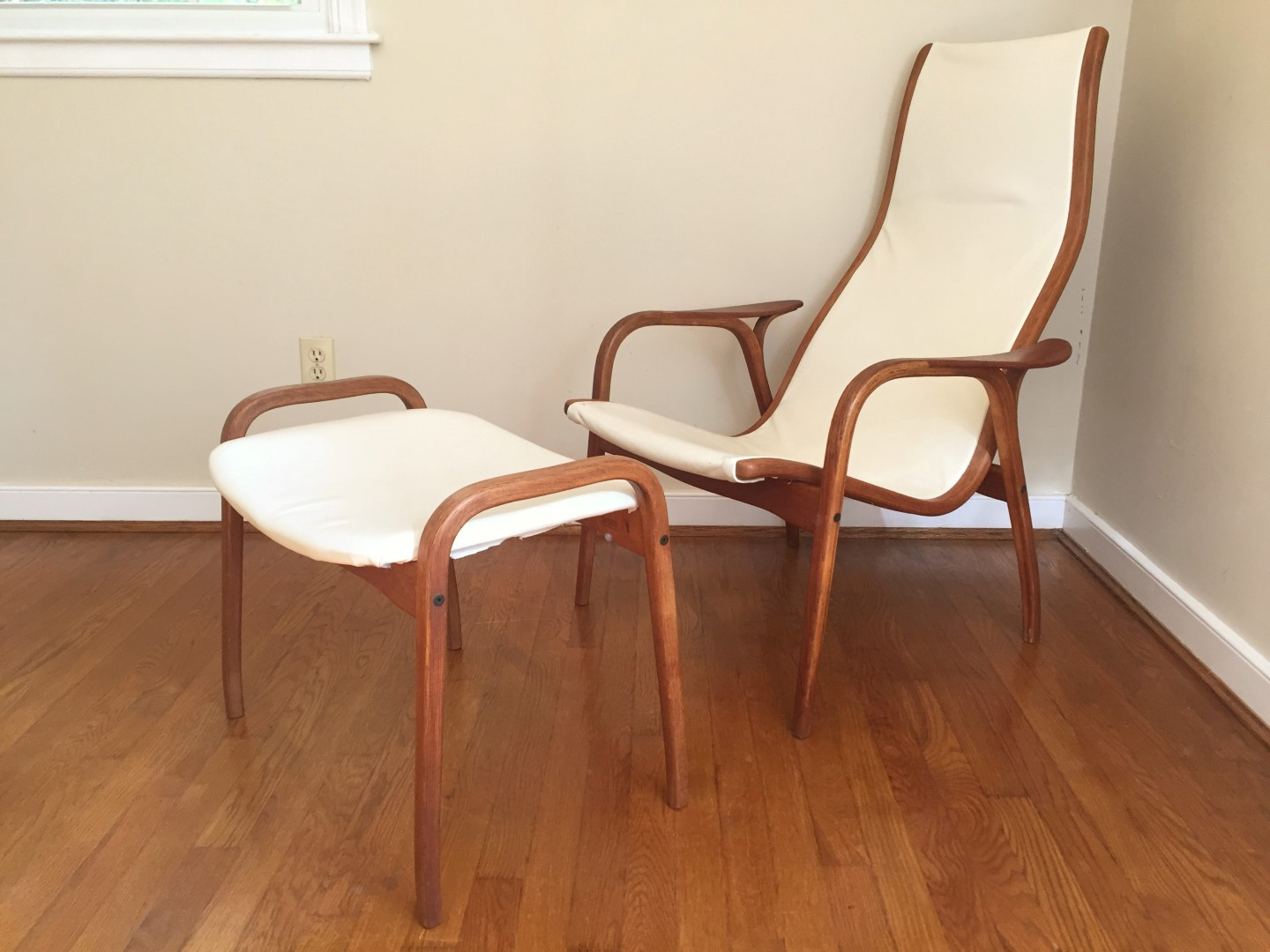 Lamino Chair and ottoman by Yngve Ekström for Swedese