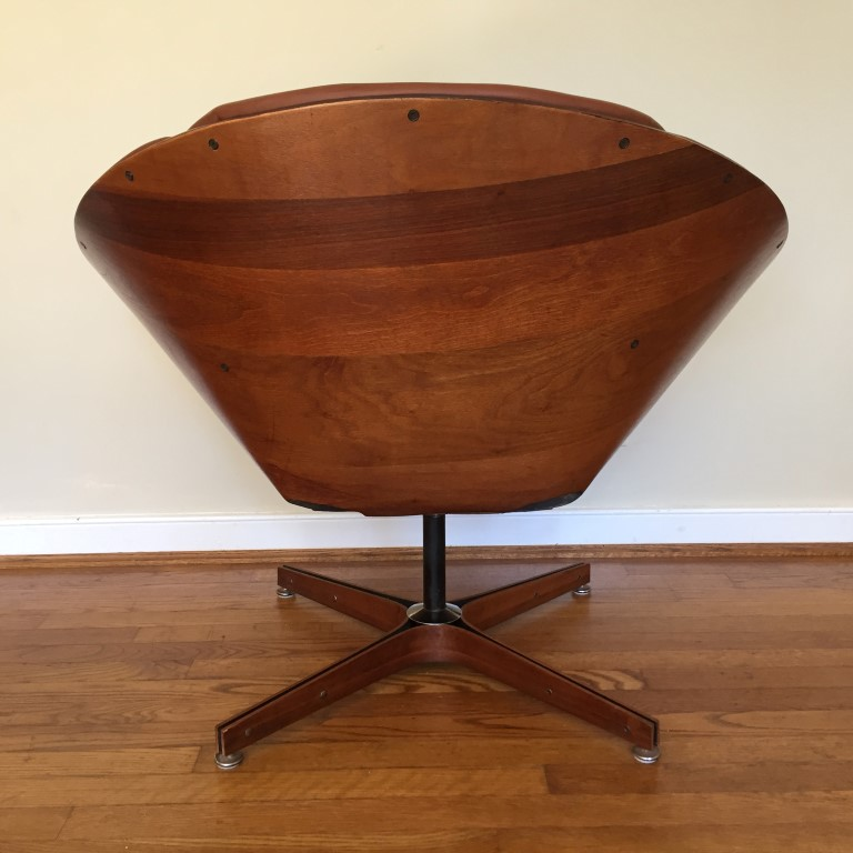 mid century modern bentwood swivel chair George Mulhauser for Plycraft