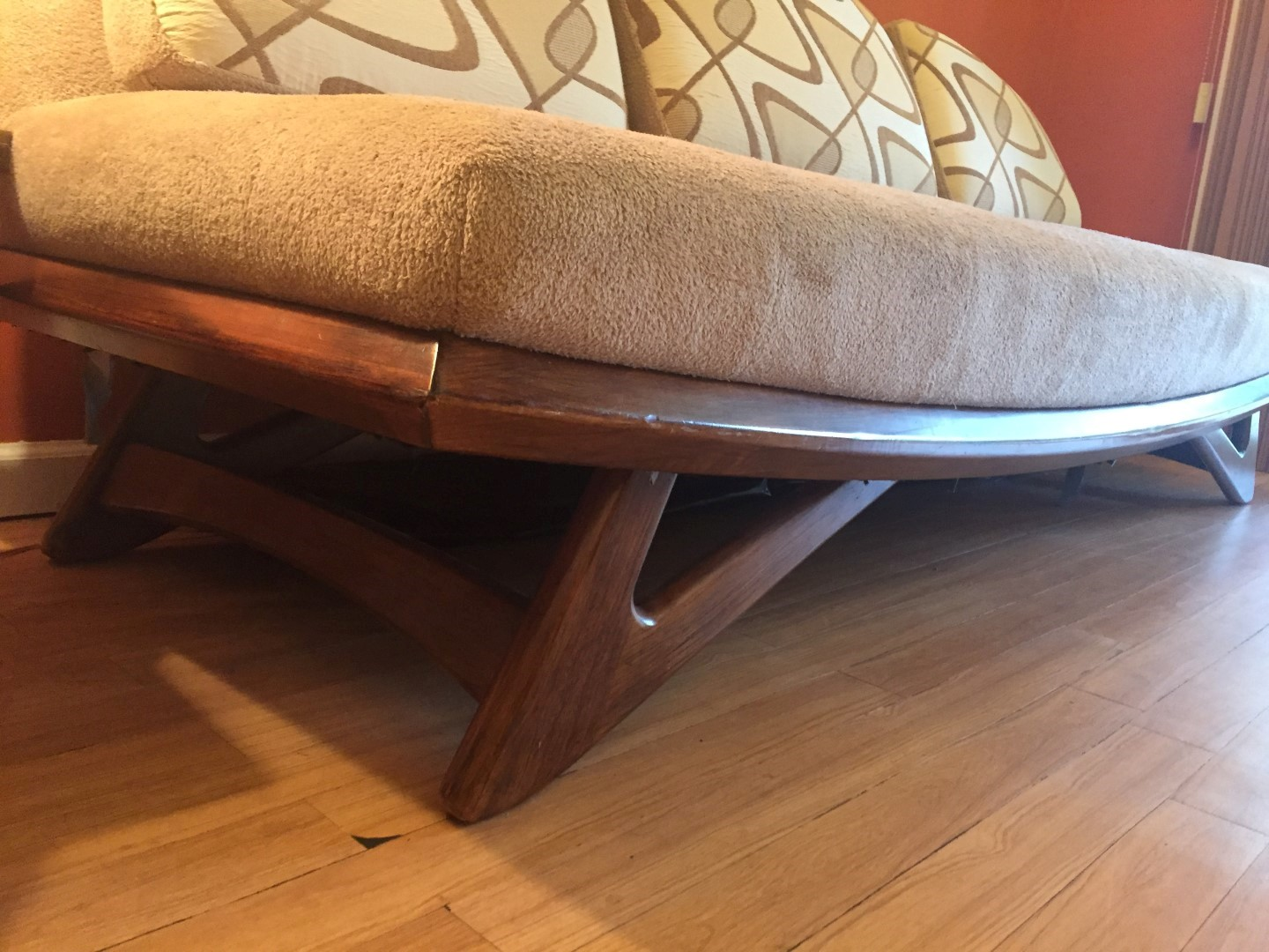 mid century modern sofa Adrian Pearsall for Lane